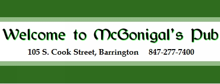 Welcome to McGonigal's Pub